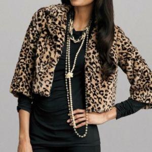CAbi Lola Leopard Print Shrug #179 size M